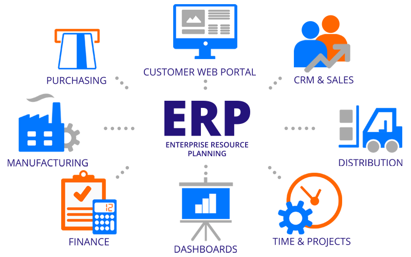 Customization of business with ERP software functionality